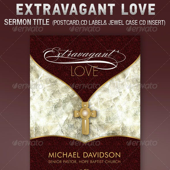 Extravagant Love Sermon Postcard CD Template