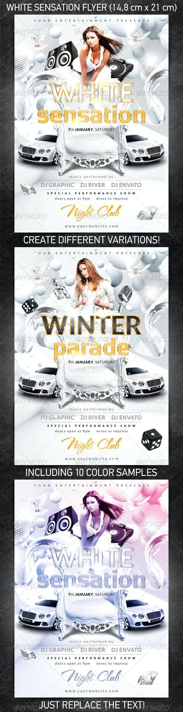 White Sensation Flyer - Clubs & Parties Events