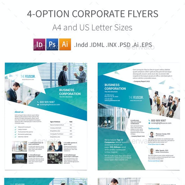 Corporate Company Flyers – 4 Options