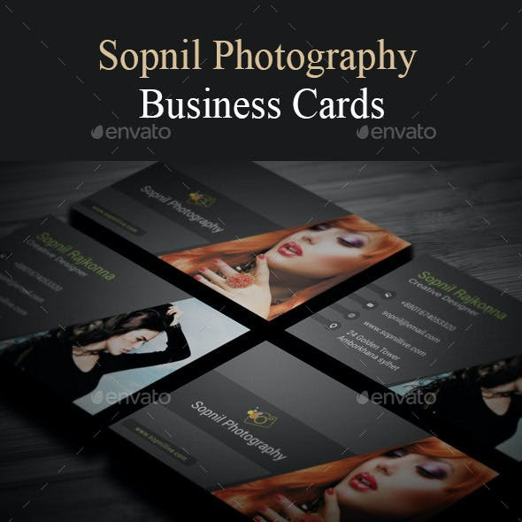 Sopnil Photography Business Card