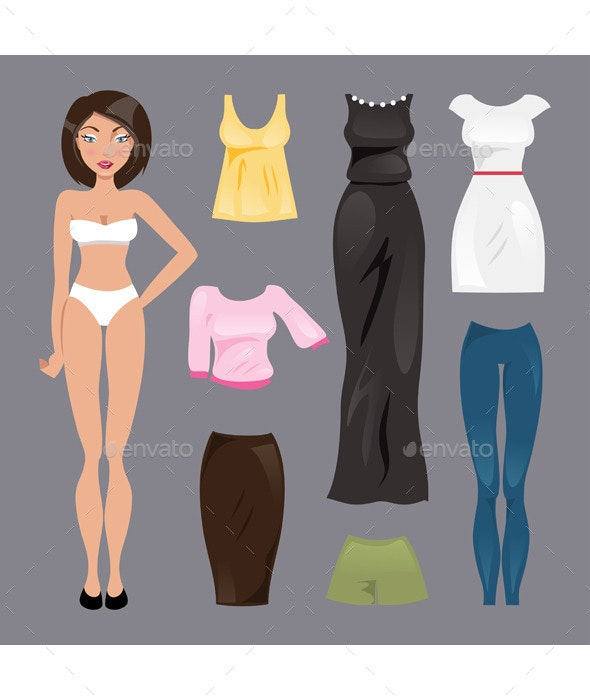 Template Paper Doll - People Characters
