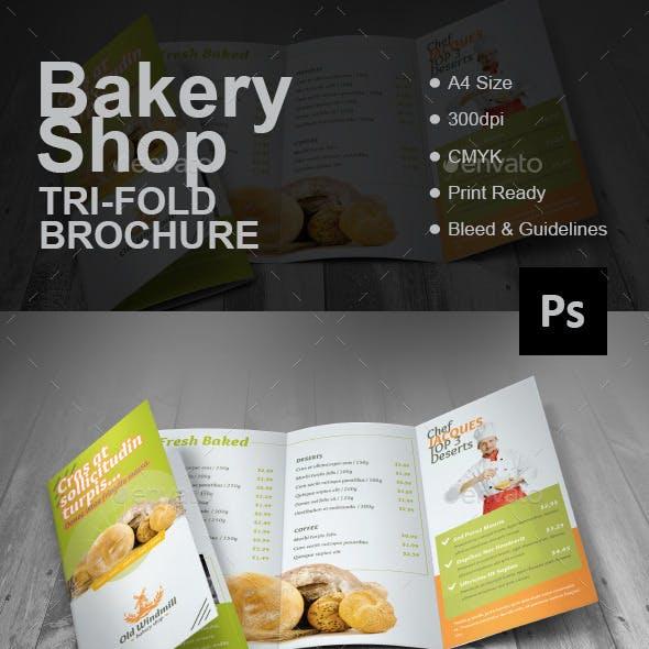 Bakery Shop Tri-fold Brochure