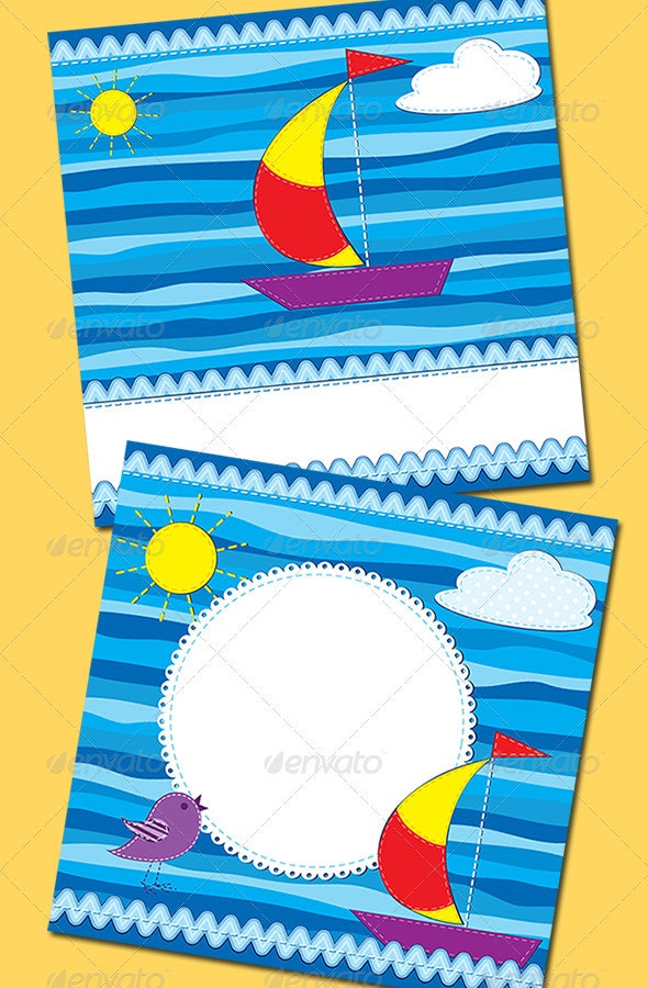 Greeting Cards With Boat - Miscellaneous Seasons/Holidays