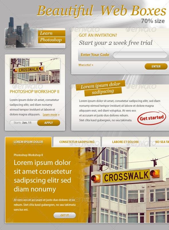 Web Boxes - Forms Web Elements