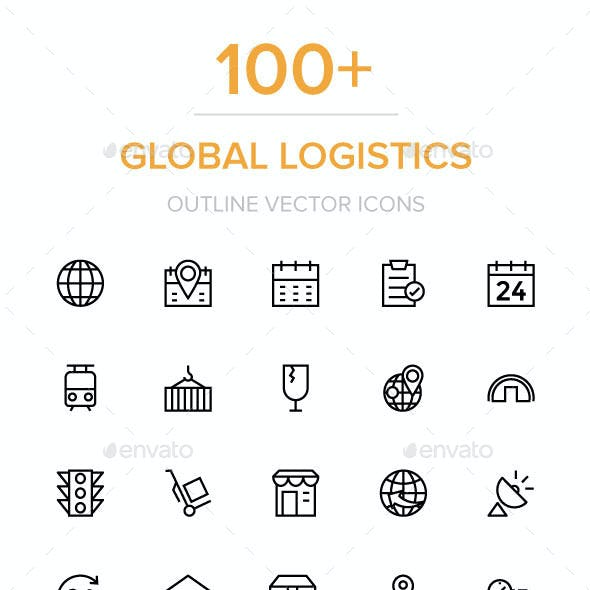 100+ Global Logistics Vector Icons