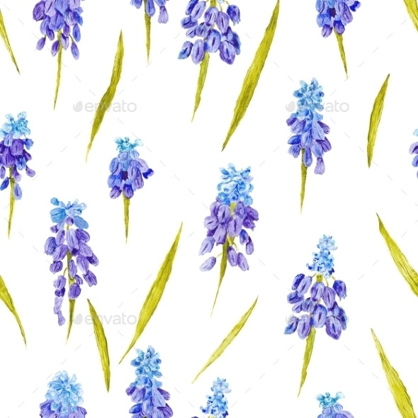 Provence Watercolor Pattern - Nature Backgrounds
