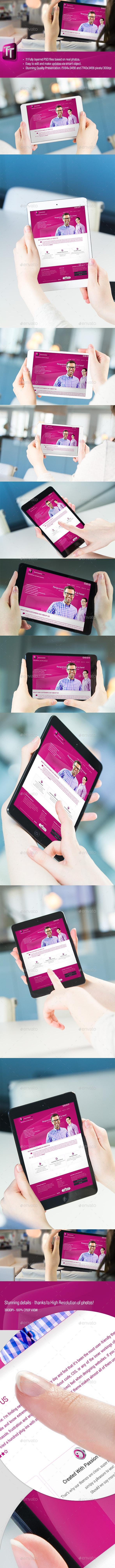 Tablet / Pad Mock-Ups Set - Mobile Displays