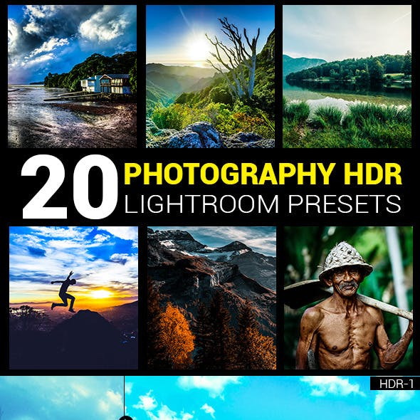20 Photography HDR lightroom presets