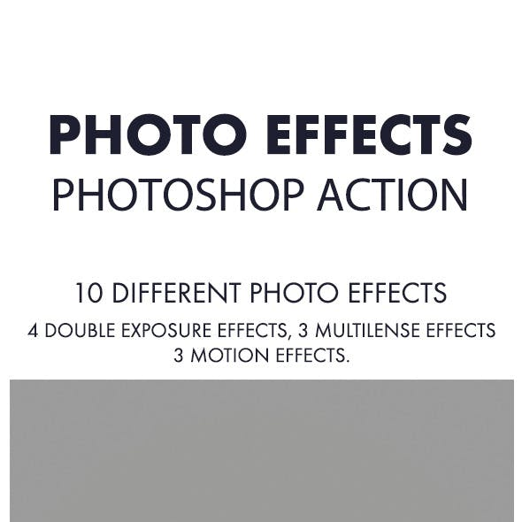 Photo Effects Photoshop Action