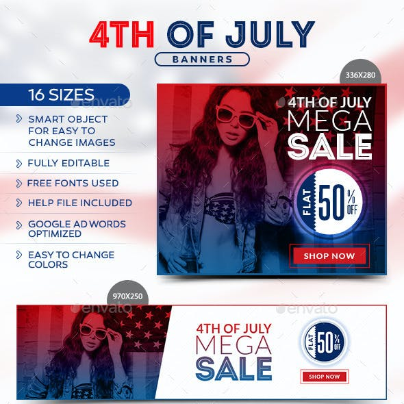 Fourth of July Sale Banners