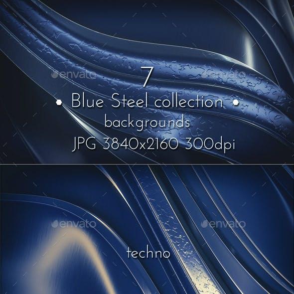 Dark Blue Steel Glossy Surface