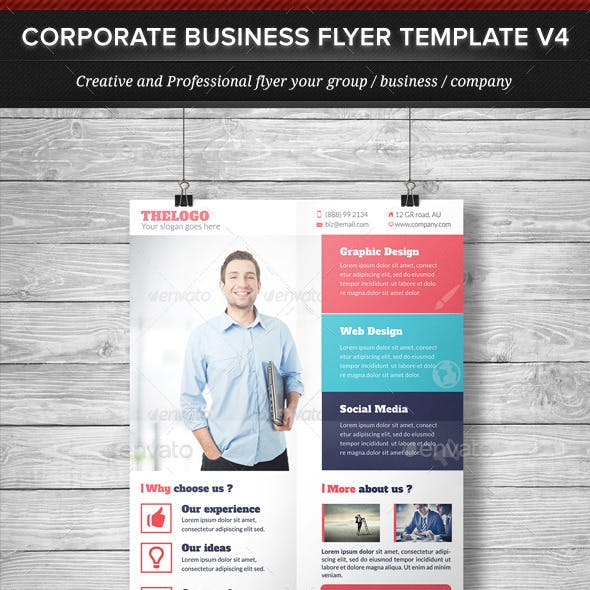 Corporate Business Flyer Template V4