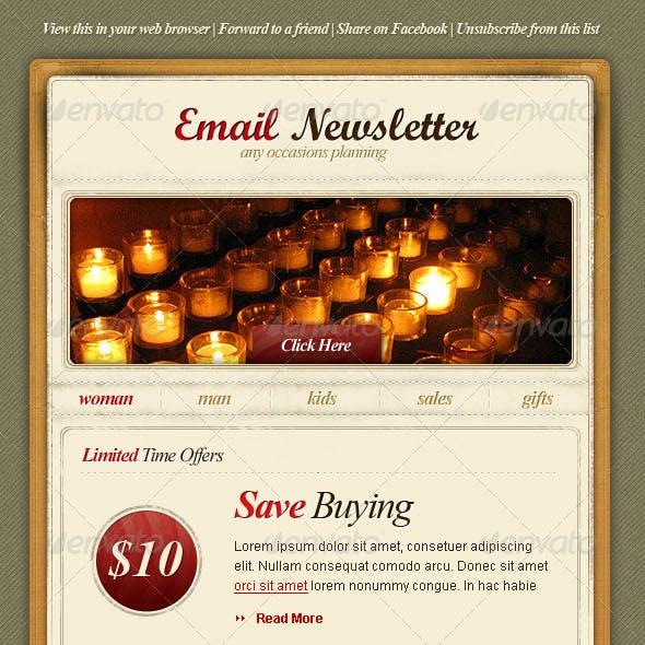 Vintage Email Newsletter