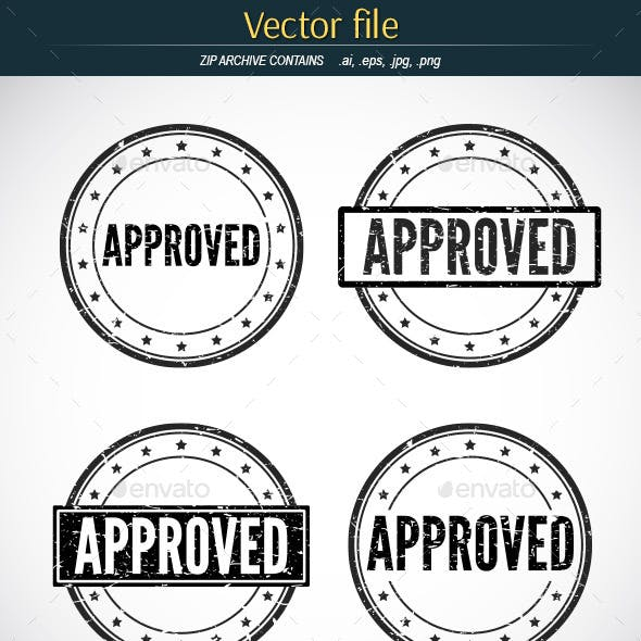 Approved Stamp - Vector Template