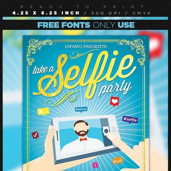 Selfie Party Flyer
