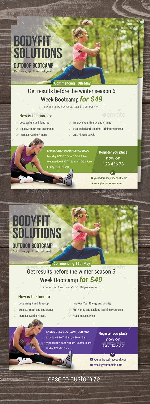 Fitness Bootcamp Flyer - Sports Events