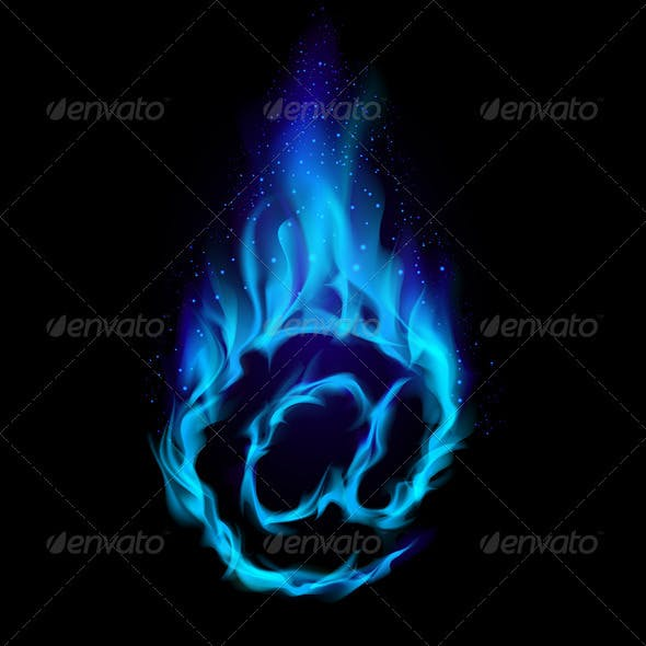 Blue Hot Symbol of AT