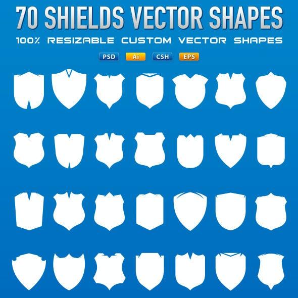 70 Vector Shields