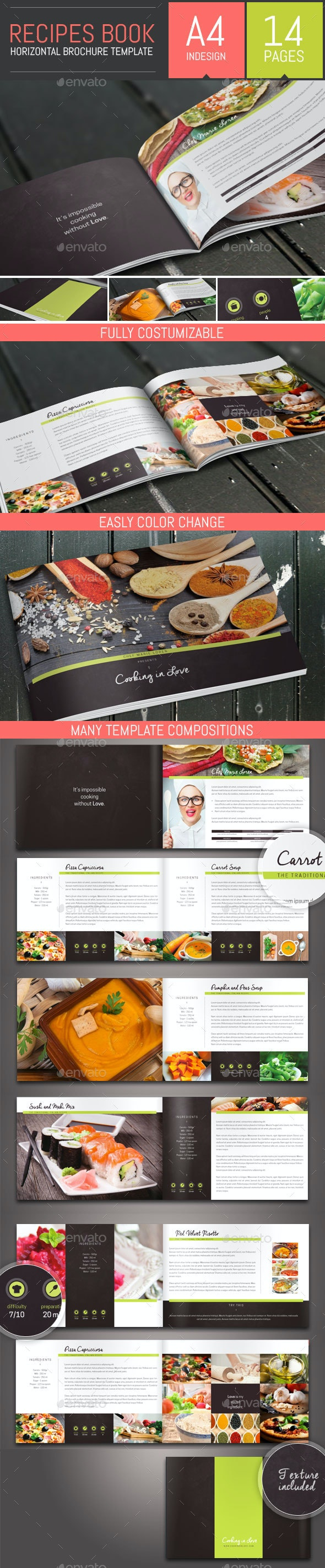 Recipes Book / Brochure Template - Informational Brochures