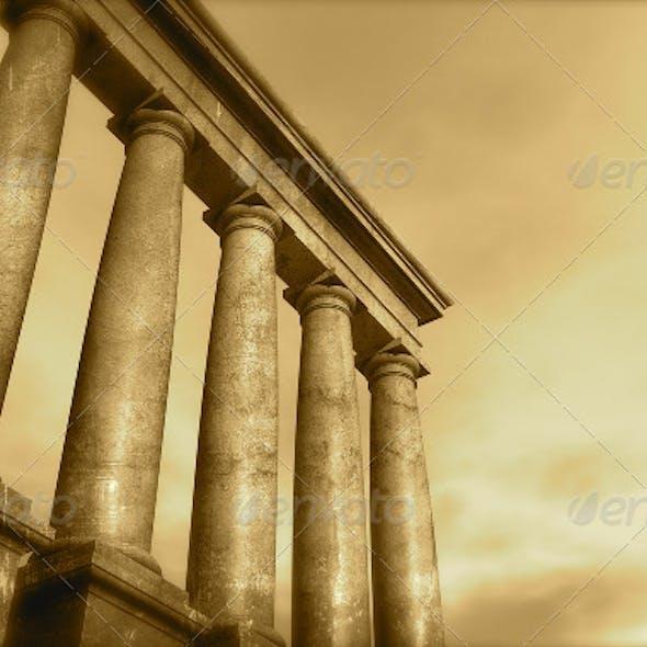 3d Antique Classical Architecture Roman Monument