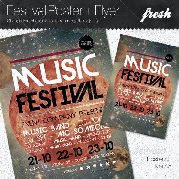 Music Festival Poster + Flyer