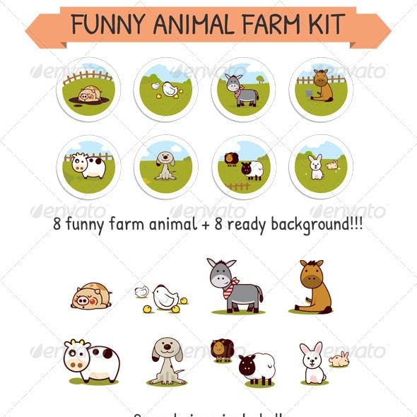 Funny Animal Farm Kit