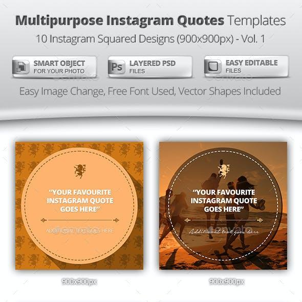 Multipurpose Instagram Quotes Banner Templates