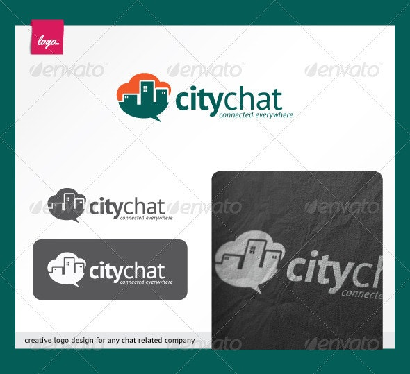 CityChat - Buildings Logo Templates