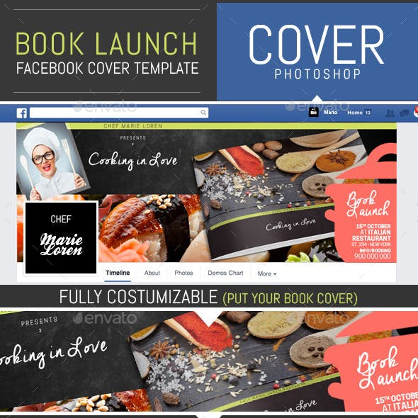 Book Launch Facebook Cover Template