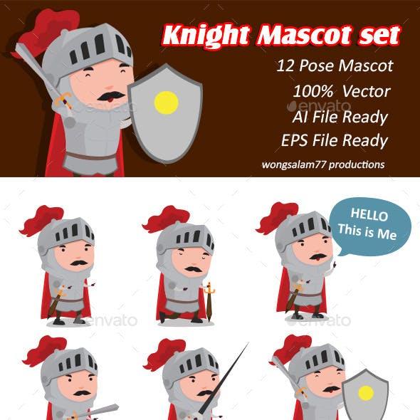 Knight Mascot Set