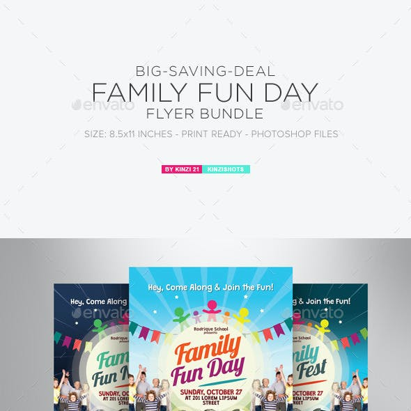 Family Fun Day Flyer Bundle