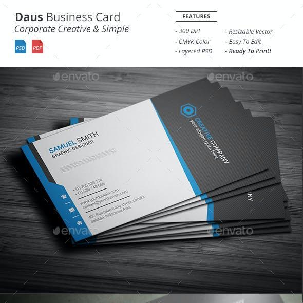 Daus - Corporate Business Card
