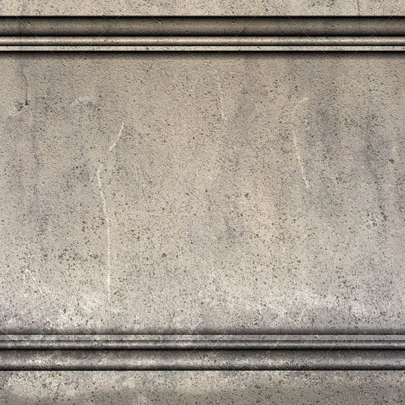 3d Render Antique Greek Roman Wall with Molding