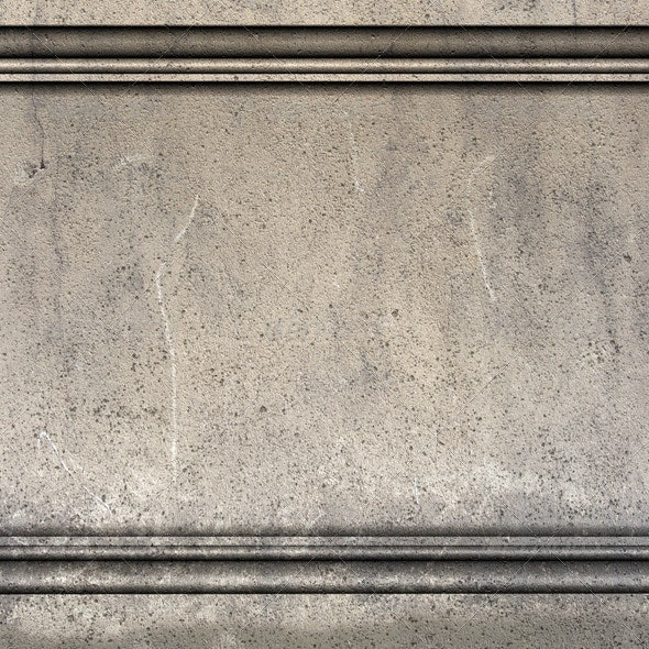 3d Render Antique Greek Roman Wall with Molding - 3D Backgrounds