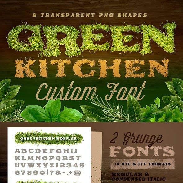 Green Kitchen - Custom Fonts