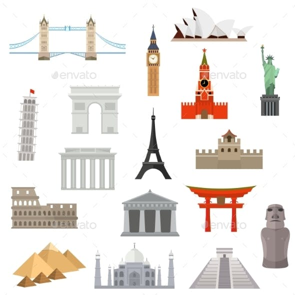 Architecture, Monument Or Landmark Icon.