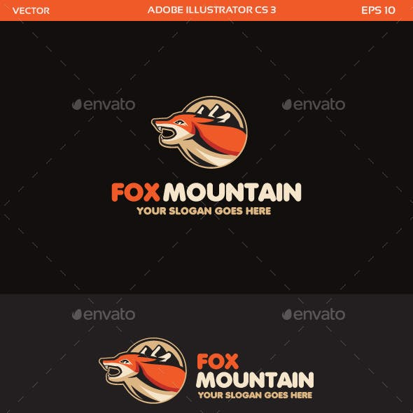 Fox and Mountain Logo