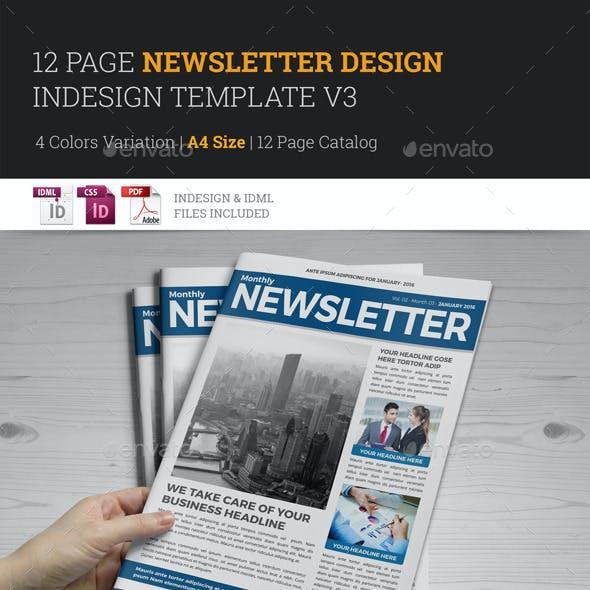 Newsletter Indesign Template v3