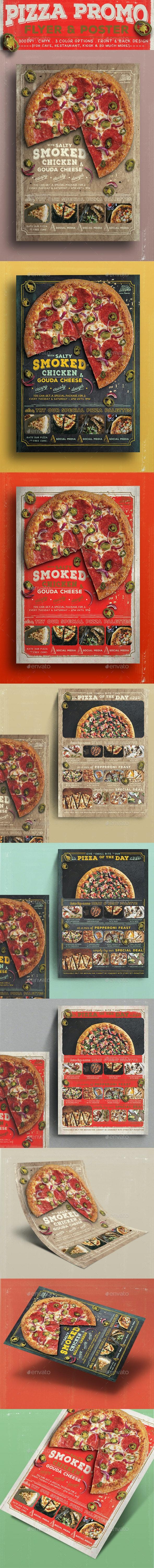 Pizza Promo Flyer - Food Menus Print Templates