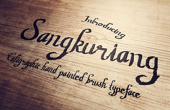 Sangkuriang Script - Hand-writing Script