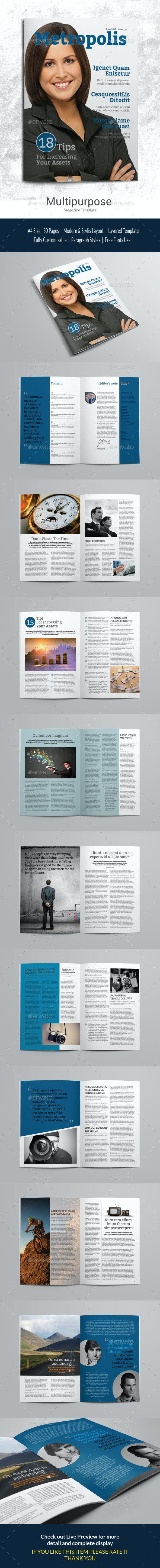 Indesign Magazine Template vol 1 - Magazines Print Templates