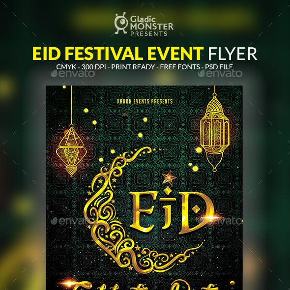 Eid Festival Event Flyer