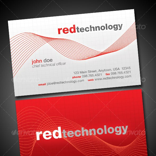 Red Technology Business Card