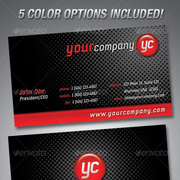Sphere Business Cards-5 COLOR OPTIONS!