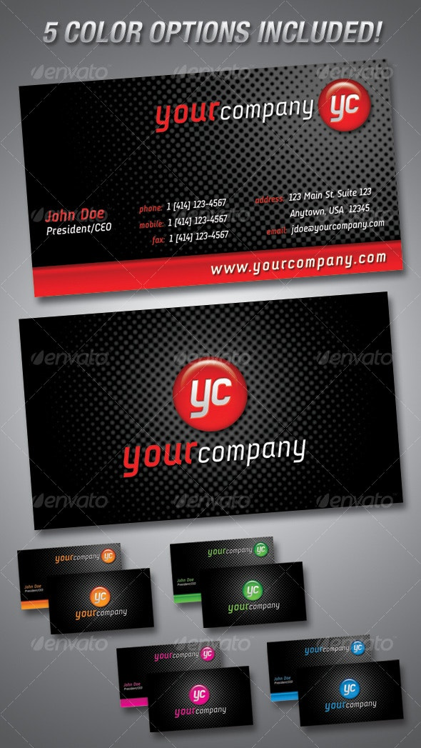 Sphere Business Cards-5 COLOR OPTIONS! - Creative Business Cards