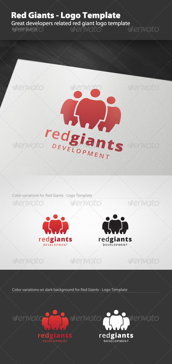 Red Giants - Logo Template - Vector Abstract