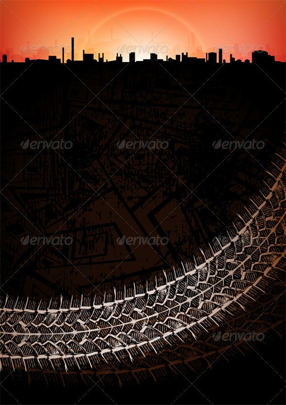 Urban banner - Backgrounds Decorative