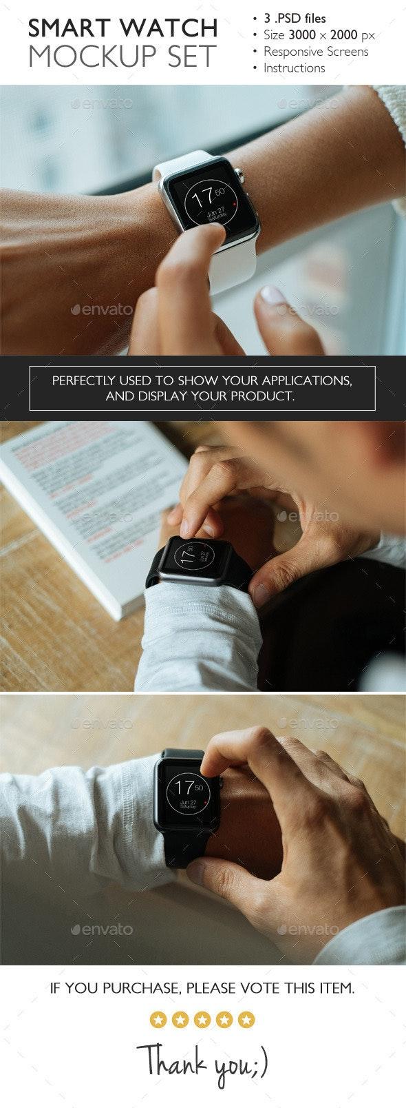 Smart Watch Mockup Set - Miscellaneous Displays