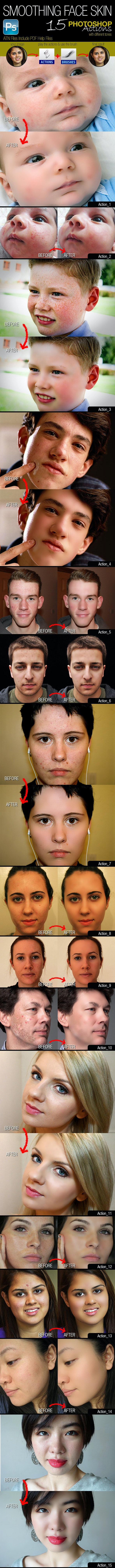 Smoothing Face Skin - Photo Effects Actions