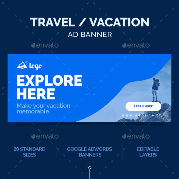 Travel Ad Banner / Vacation Ad Banner